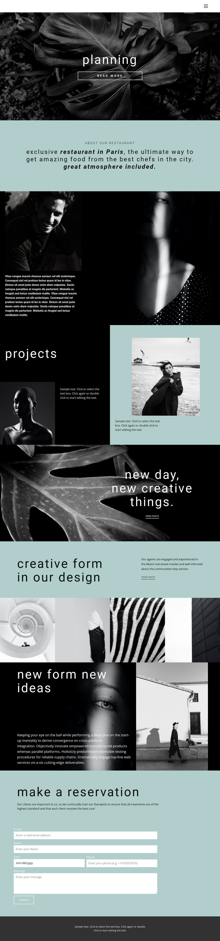 All about creative design HTML Template