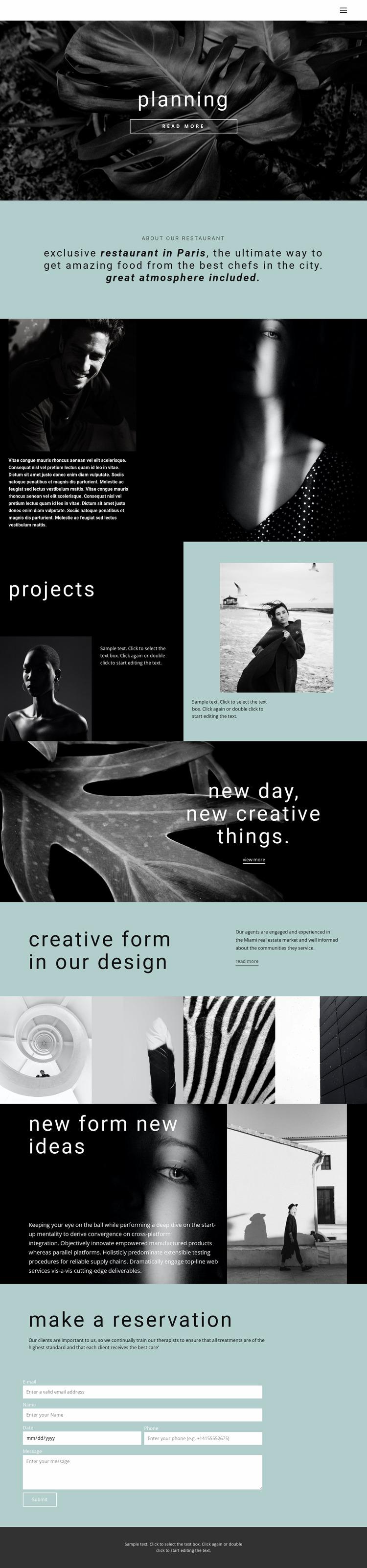 All about creative design Html Website Builder