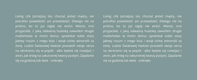 Dwie kolumny tekstu w tle Szablon witryny sieci Web