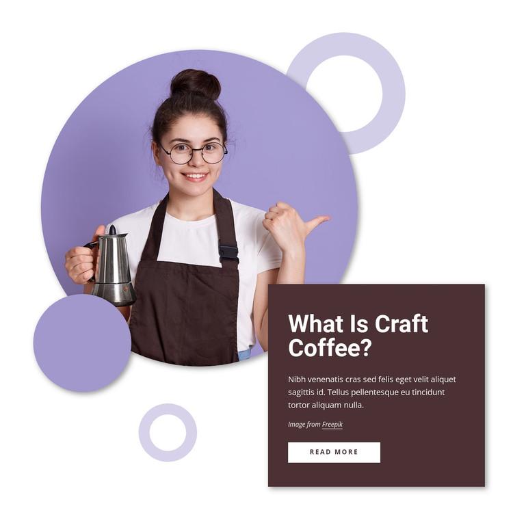 Craft Coffee WordPress Theme