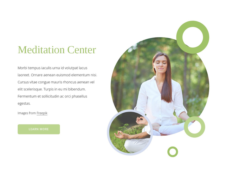 Meditation center One Page Template