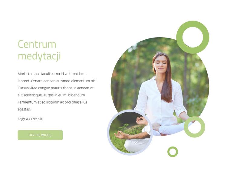 Centrum medytacji Szablon witryny sieci Web