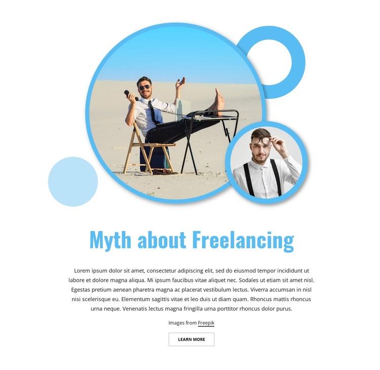 Myth about freelancing WordPress Template