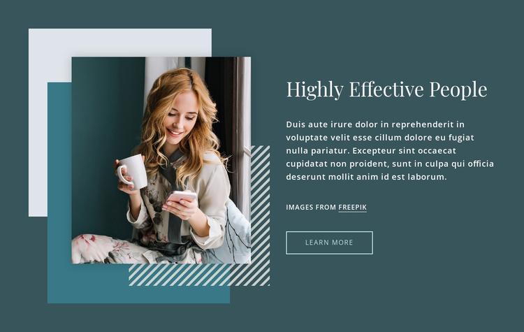 Highly effective people Joomla Template