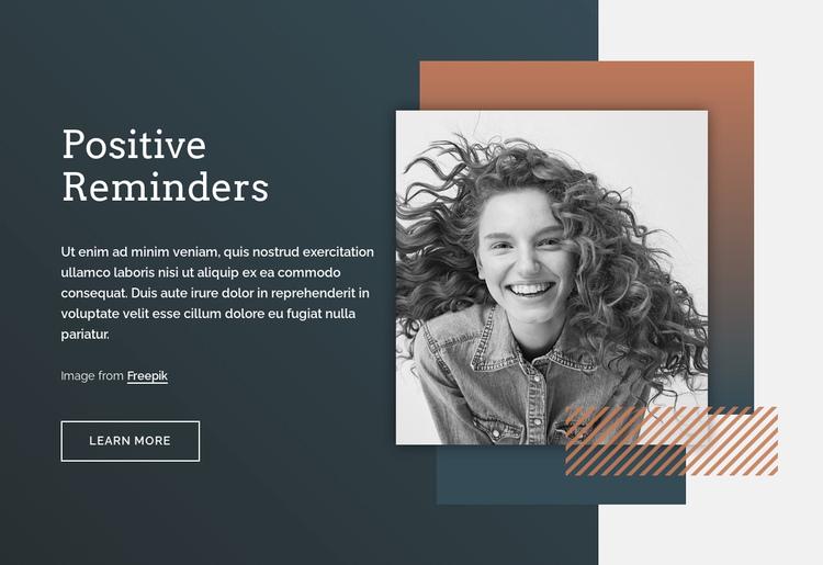 Positive reminders Website Builder Software