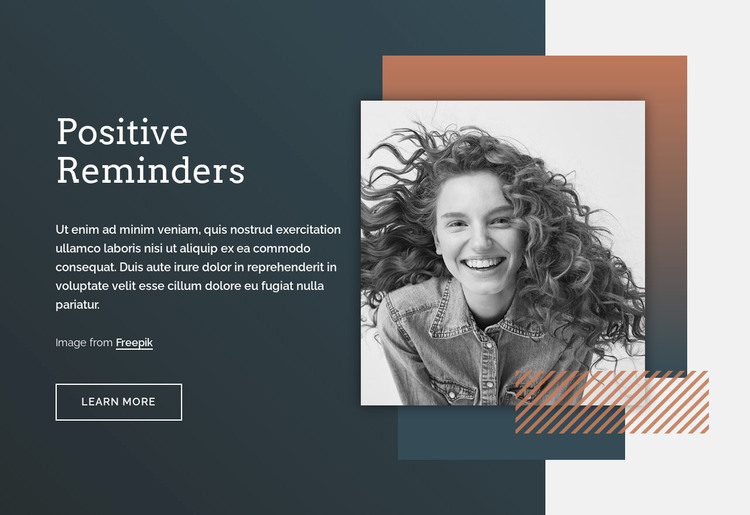 Positive reminders WordPress Theme