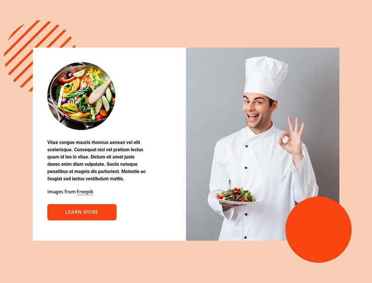 Smart kitchen One Page Template