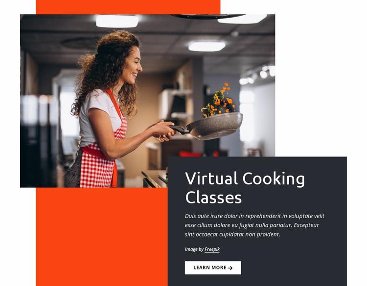 Virtual cooking classes Website Design
