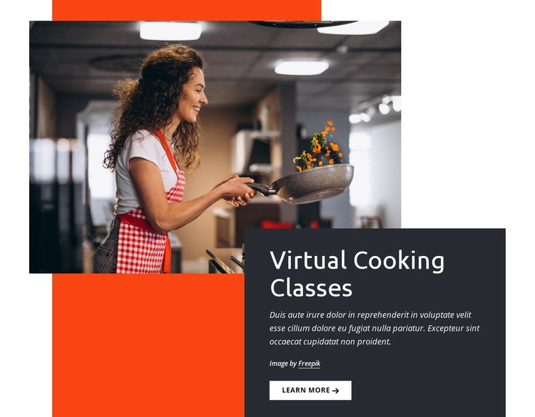Virtual cooking classes Website Maker