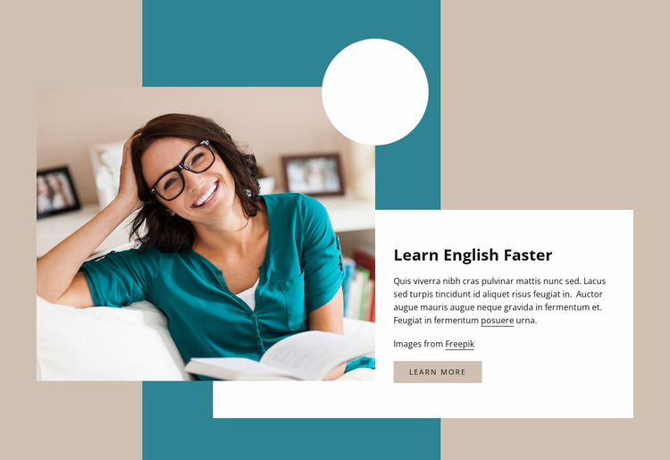 Learn English faster Website Mockup