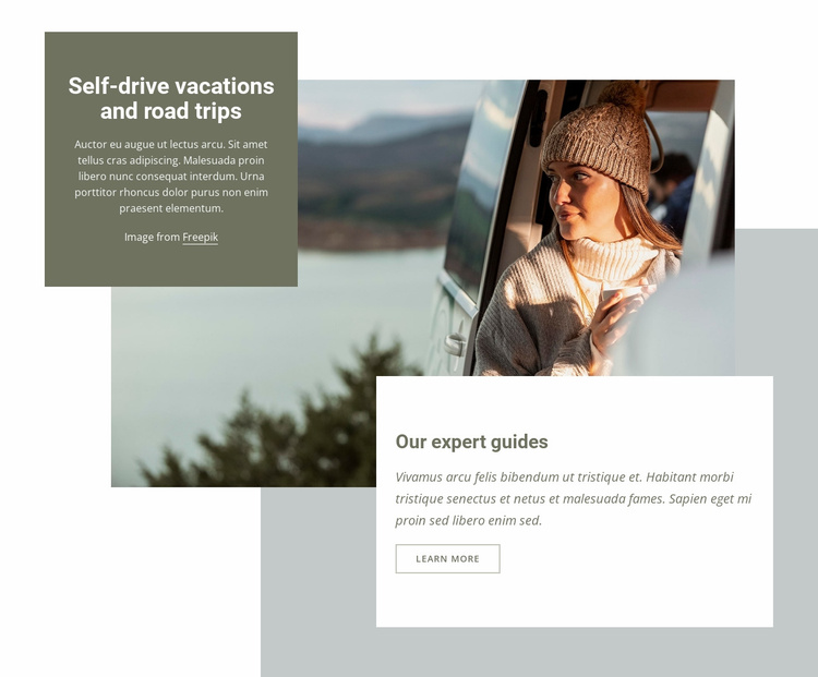 Self-drive vacations Website Template