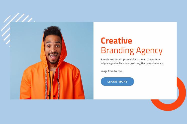 Creative branding agency Landing Page