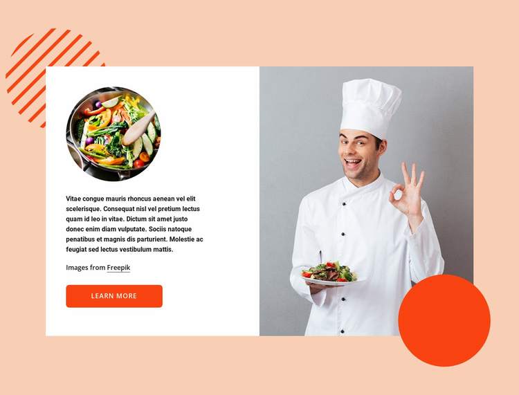 Smart kitchen Website Template