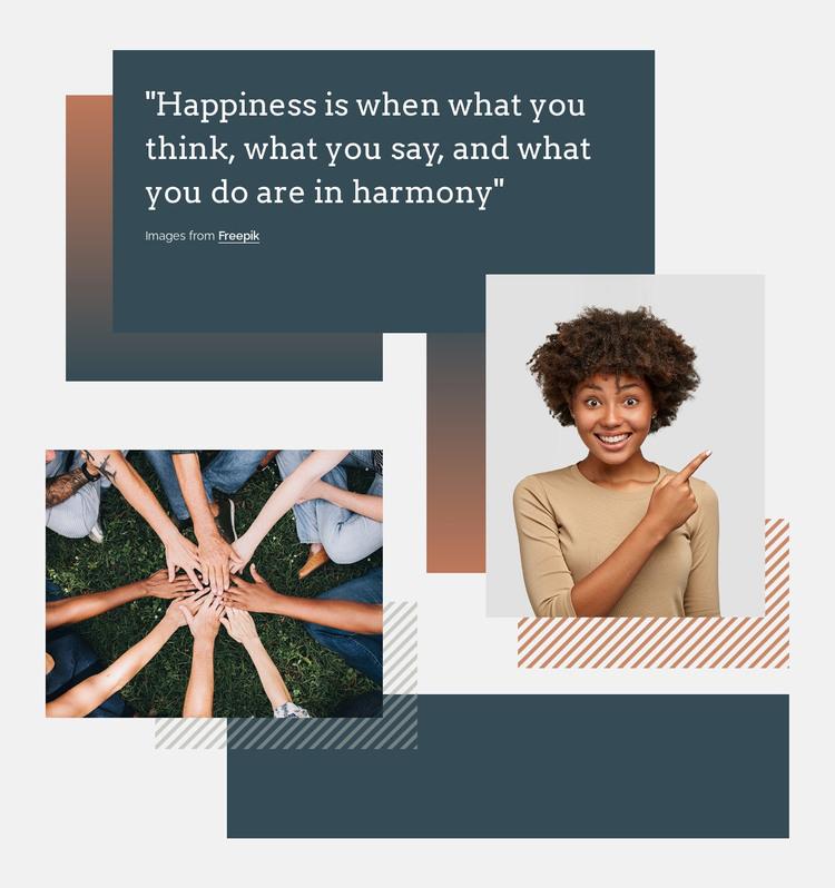 Happiness and harmony WordPress Theme