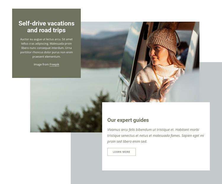 Self-drive vacations WordPress Website Builder