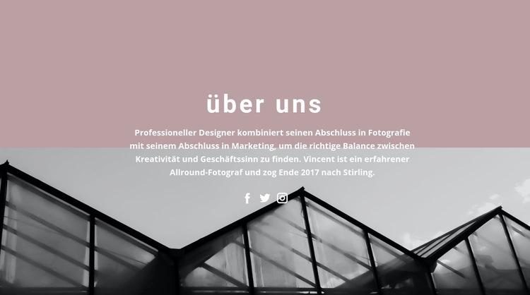 Über die Unternehmensentwicklung Website-Vorlage