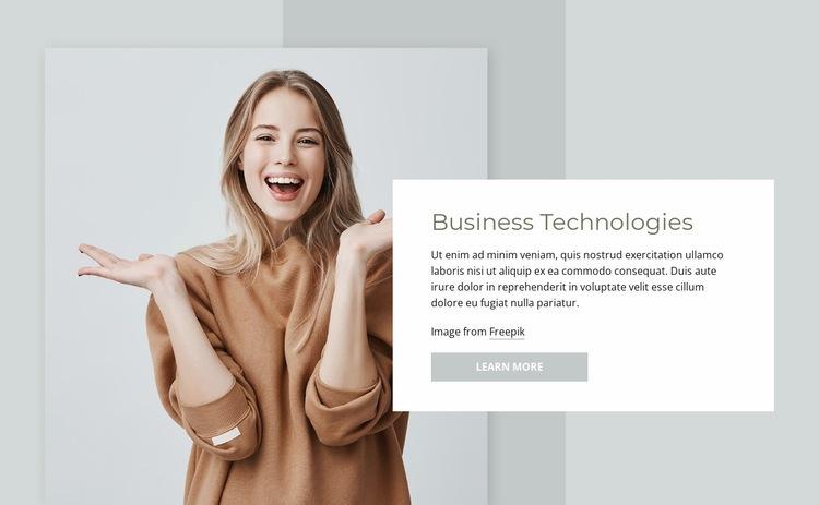 Business technologies Html Code