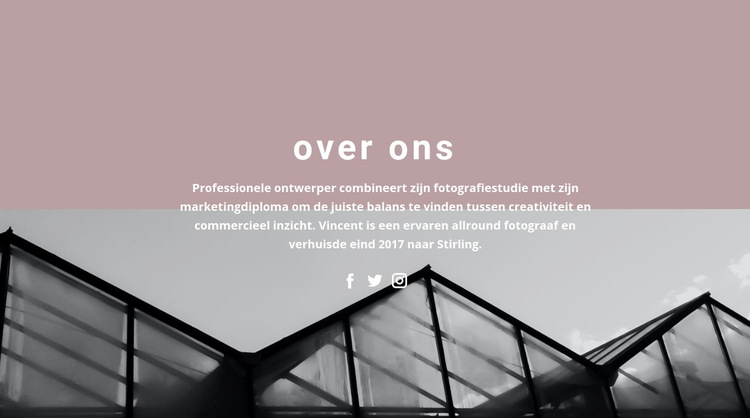 Over bedrijfsontwikkeling Website sjabloon