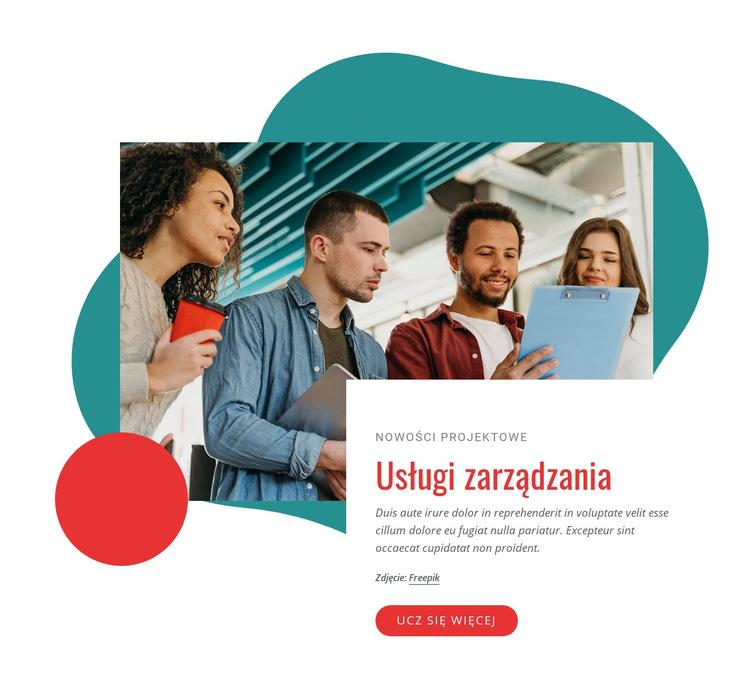 Firma konsultingowa w zakresie zarządzania Szablon witryny sieci Web