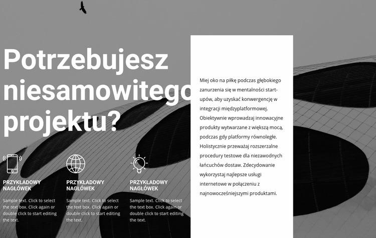 Usługi projektowe i stylistyczne Szablon Joomla