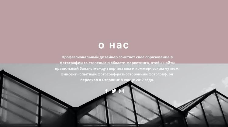 О развитии компании Шаблон веб-сайта