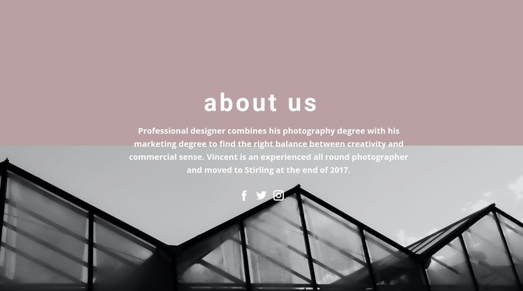 About company development Web Page Design