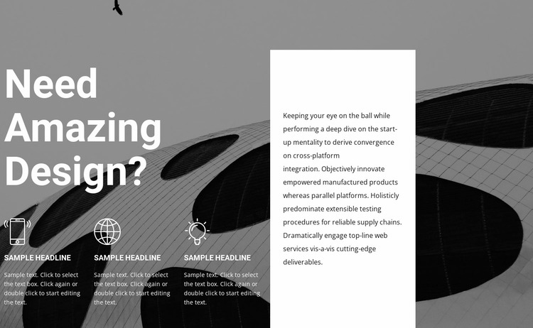 Design and style services Website Mockup
