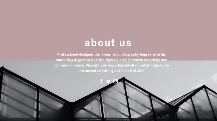 About company development Landing Page