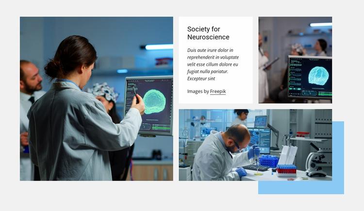 Society for neuroscience Website Template