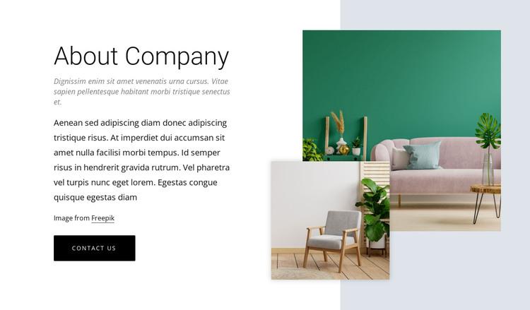 Online interior design HTML Template