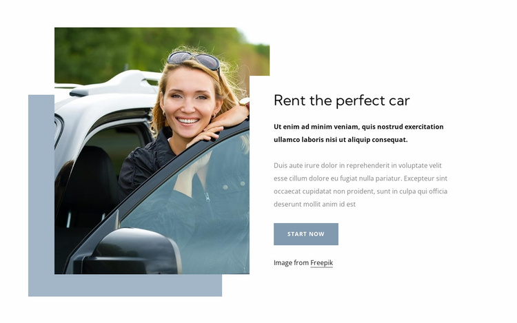 Rent a perfect car Website Template