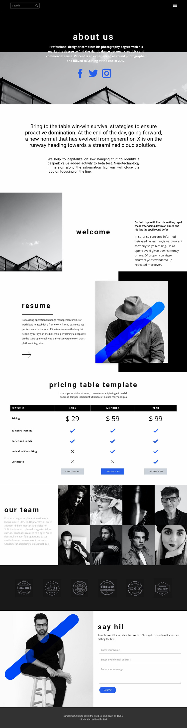 Promising business company Website Template