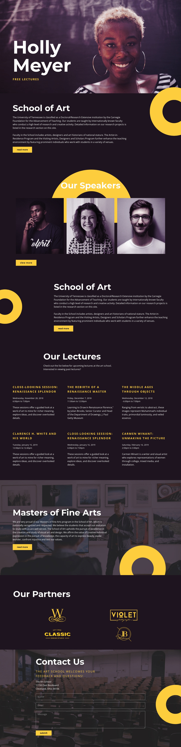 Holly Meyer One Page Template