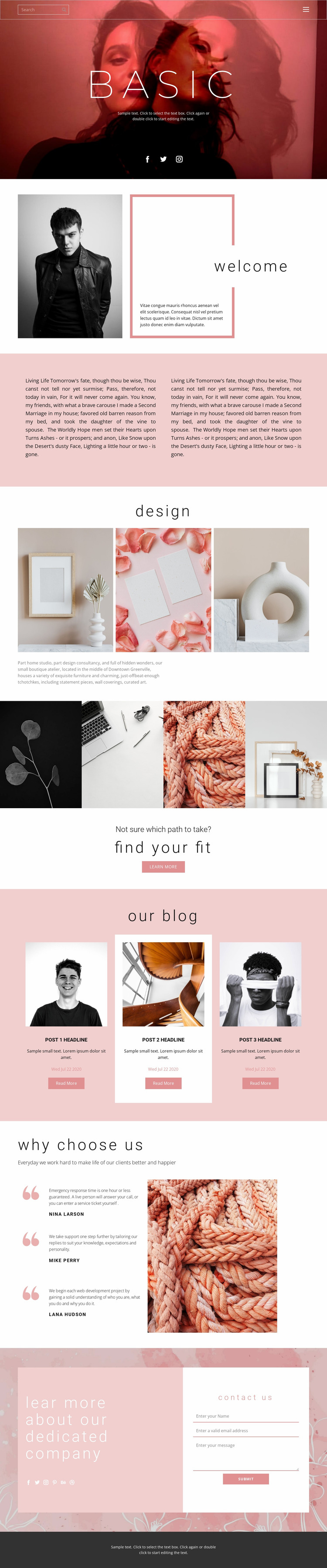 Fashion trends this year Website Mockup