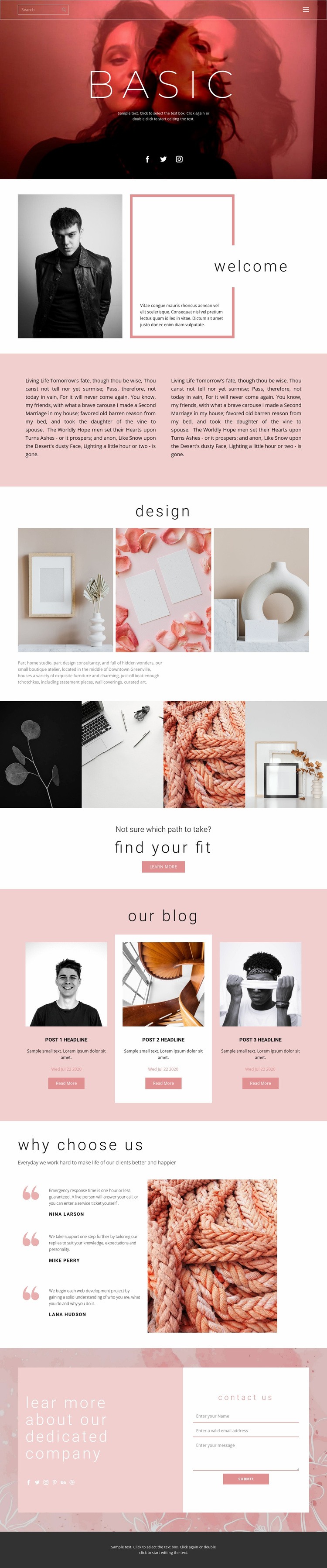 Fashion trends this year Website Template