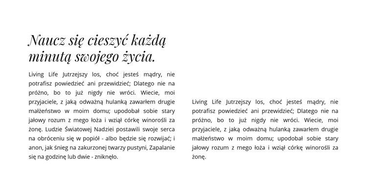 Nagłówek i dwie kolumny z tekstem Szablon witryny sieci Web