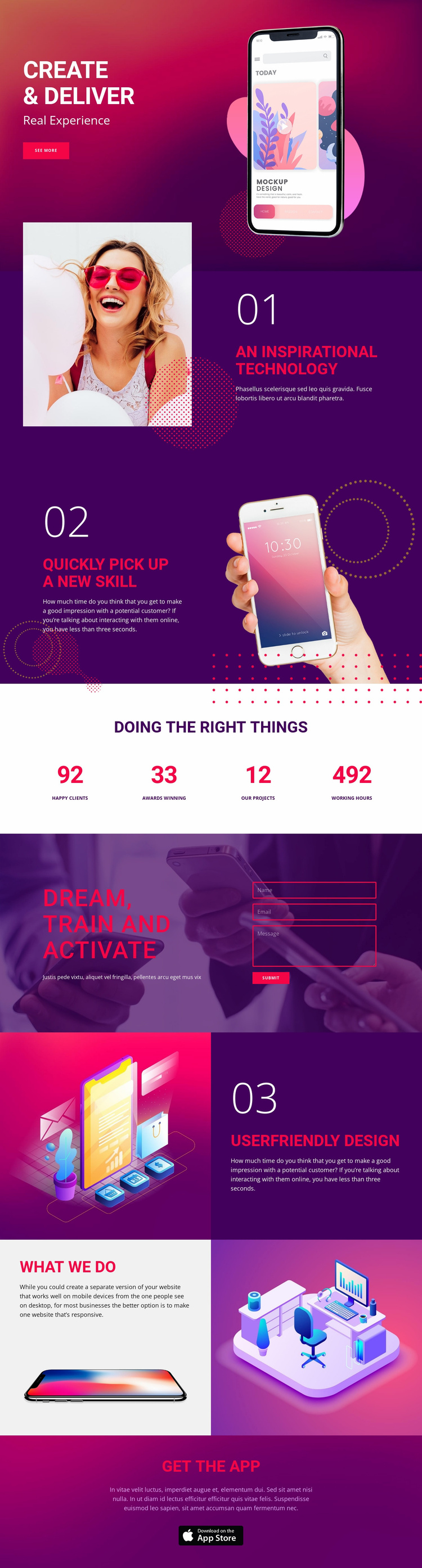 Delivery technology Landing Page