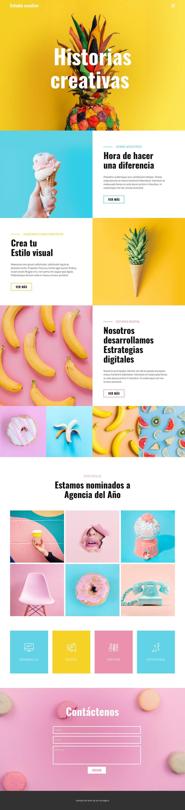 Marcando la diferencia en la comida Plantilla de sitio web