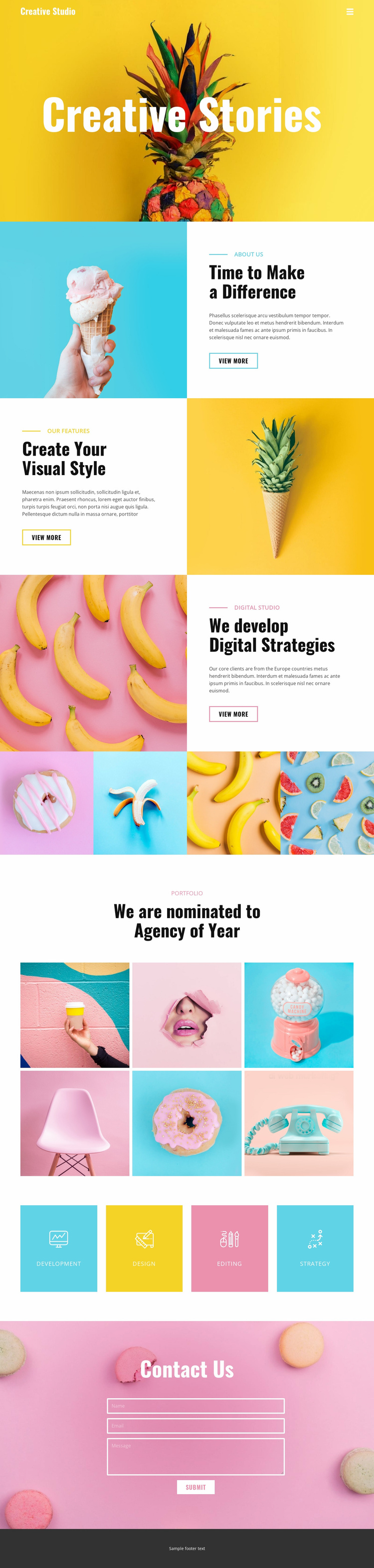 Making a difference for food Website Template
