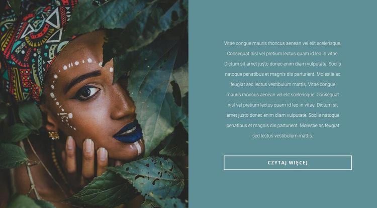 Modne motywy afrykańskie Szablon witryny sieci Web