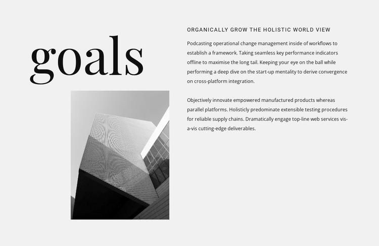 Setting goals for victories Website Builder Software