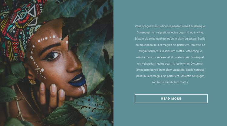 Fashionable African motives Website Mockup