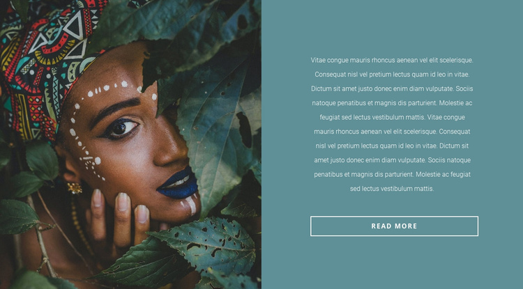 Fashionable African motives Website Template