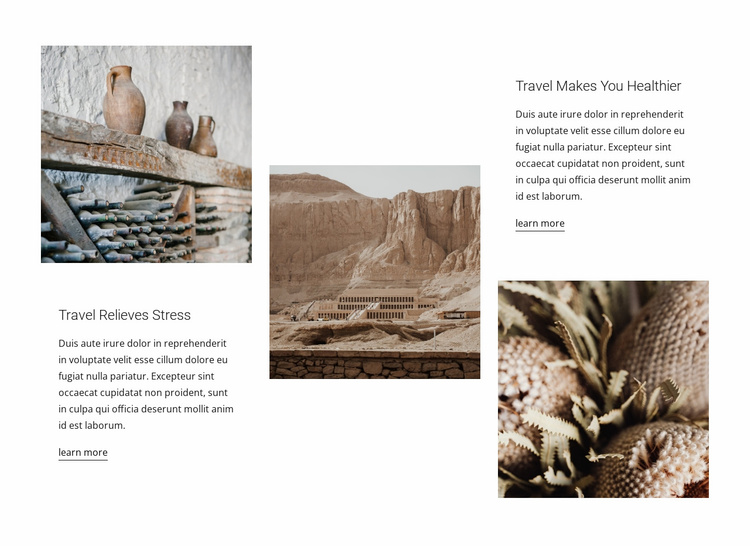 By the roads of the east Website Template