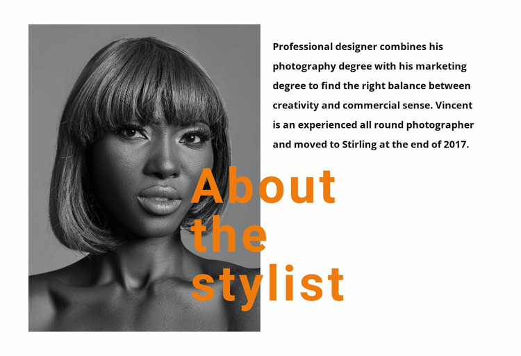The best professional stylists Html Website Builder