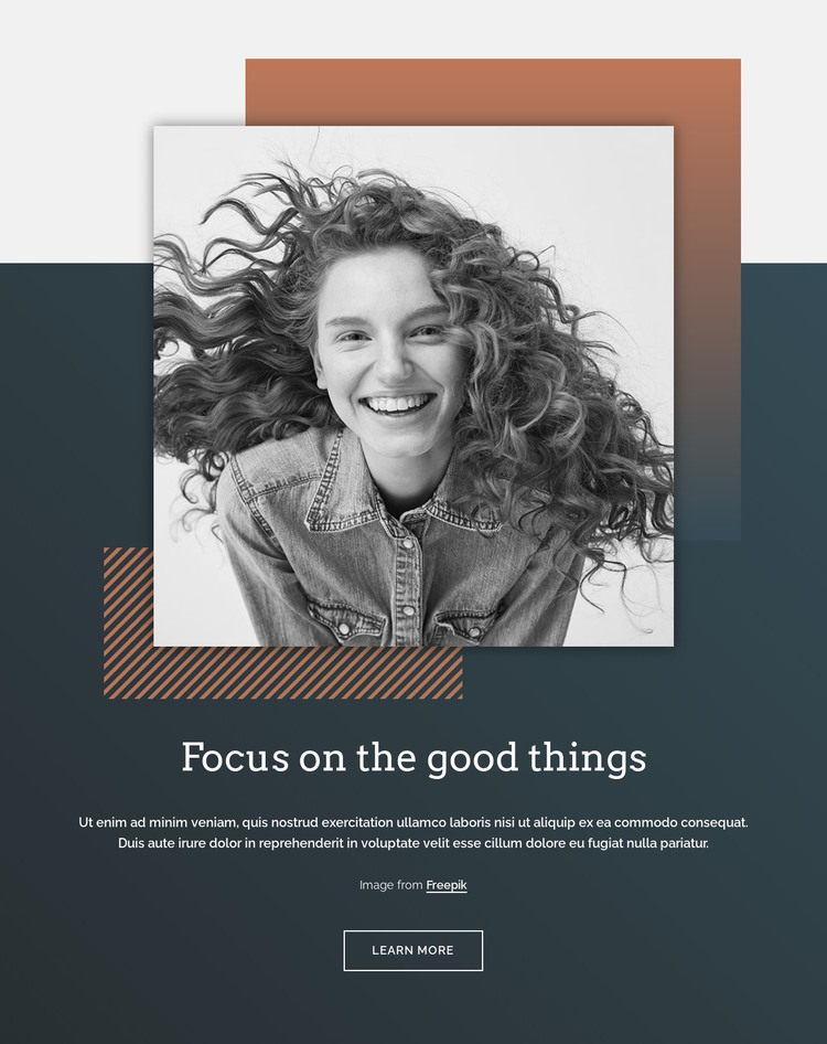 Focus on the good things HTML Template