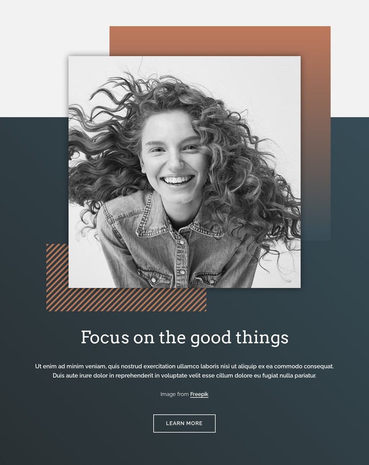 Focus on the good things Web Page Design