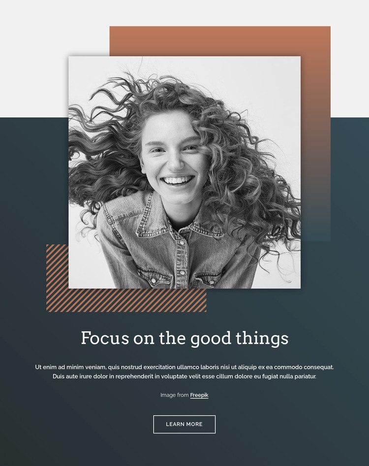 Focus on the good things WordPress Theme