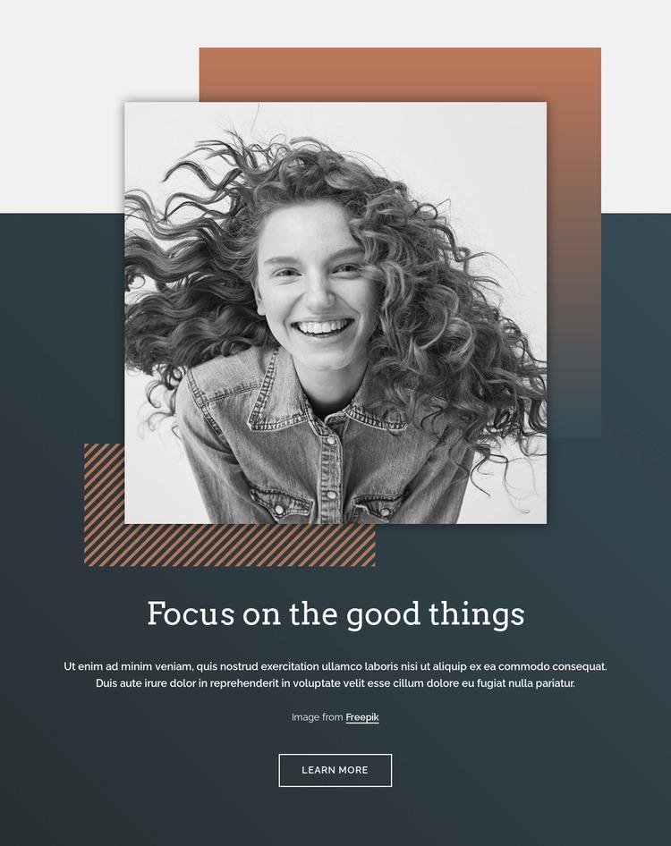 Focus on the good things WordPress Website Builder