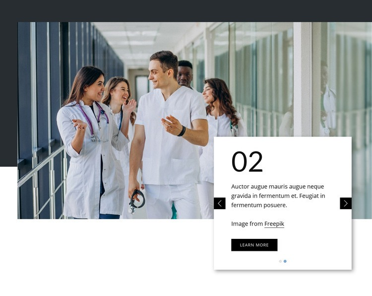 Leading primary care Homepage Design